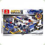 Конструктор Sluban M38-B0356 Формула 2 Гараж 741 деталей