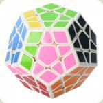 Кубик 0934C-5 QiYi X-Man Megaminx (Plane White-Base) 8см, в кор-ке, 9,5-7,5-13,5см