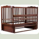 Ліжко Babyroom Веселка маятник, відкидний бік DVMO-2 бук горіх