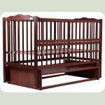 Ліжко Babyroom Веселка маятник, відкидний бік DVMO-2 бук тик