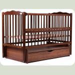 Ліжко Babyroom Веселка маятник, ящик, відкидний бік DVMYO-3 бук горіх