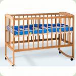 Ліжко дитяче з дугами + колеса (1200*600)(бук)