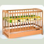 Ліжко з шухлядою  (1200*600) (бук)