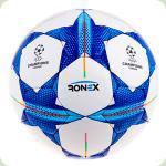 М'яч футбольний RONEX № 4 Ліга Чемпіонів шитий