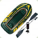 Надувний човен Intex Seahawk 3 (68380)
