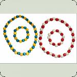 Намисто (25см)+браслет в асортиментi