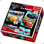Пазл Trefl 2 в 1 і Memos Тачки 3 Наступне покоління гонки (90706)