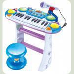 Піаніно 7235BLUE Музикант, на підставці, стілець, мікрофон