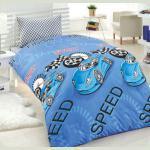Постільна білизна для підлітків Eponj Home - Jet Araba Mavi ранфорс 160*220