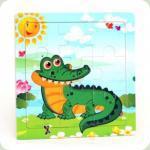 Рамка-пазл міні Крокодил