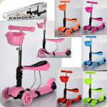 Самокат iTrike Maxi 2 в 1 JR 3-016 Рожевий