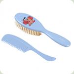 Щітка і гребінець для волосся BabyOno М'яка Синій (568)