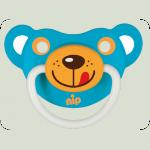 Силіконова пустушка Nip Веселі тварини №2 5-18 міс. Тигреня і Ведмедик синій (31500)