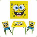 Столик Bambi D 06449 квадратний з двома стільчиками Sponge Bob