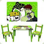 Столик Bambi M 0489 Ben 10 з двома стільчиками