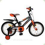 "Велосипед Azimut Stitch 16 ""Помаранчево-блакитний"