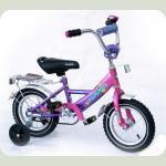 """Велосипед Марс 12"""" ручка+ексцентрик (рожевий/фіолетовий)"""