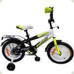 "Велосипед Profi Inspirer 14 ""Black / White / Green (G1454)"