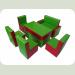 """Комплект дитячих меблів """"Гостинка Люкс"""" (Диван -1шт., Крісло -2шт.., Стілець -2шт., Стіл – 1шт.)"""